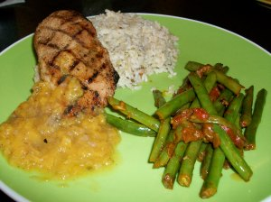 Grilled Chicken Peach Chutney